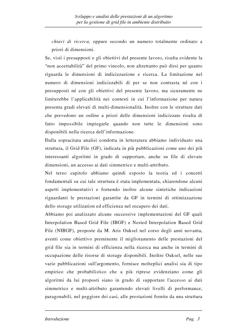 Anteprima della tesi: Sviluppo e analisi delle prestazioni di un algoritmo per la gestione di grid file distribuiti, Pagina 3