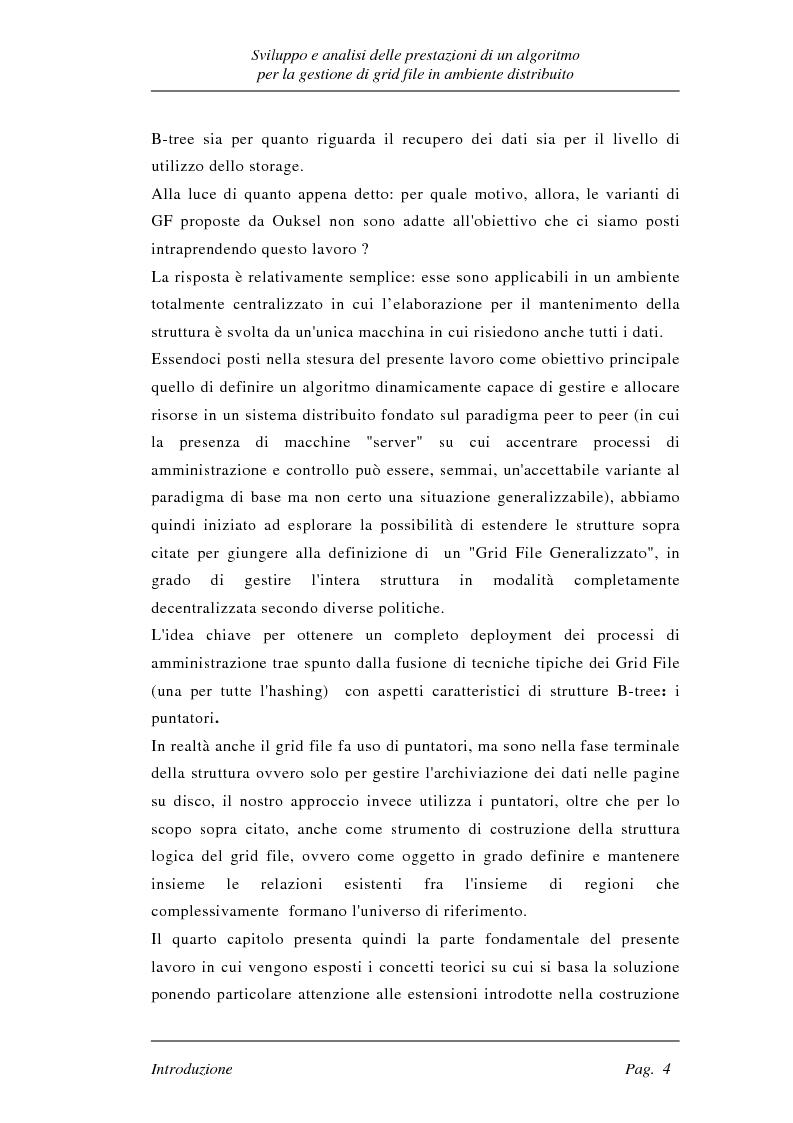 Anteprima della tesi: Sviluppo e analisi delle prestazioni di un algoritmo per la gestione di grid file distribuiti, Pagina 4