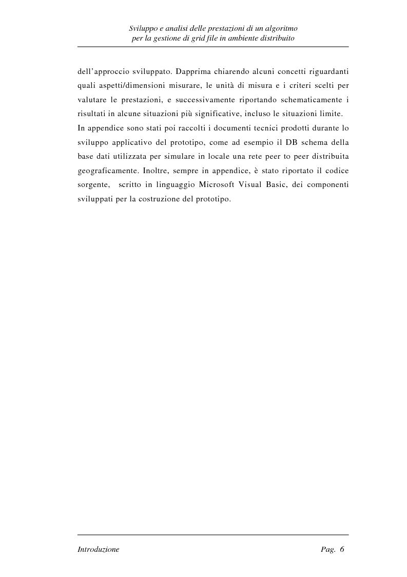 Anteprima della tesi: Sviluppo e analisi delle prestazioni di un algoritmo per la gestione di grid file distribuiti, Pagina 6
