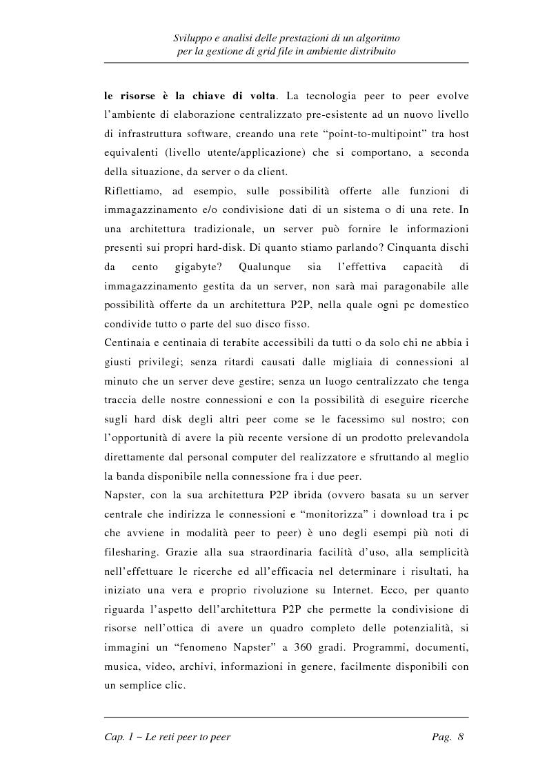 Anteprima della tesi: Sviluppo e analisi delle prestazioni di un algoritmo per la gestione di grid file distribuiti, Pagina 8