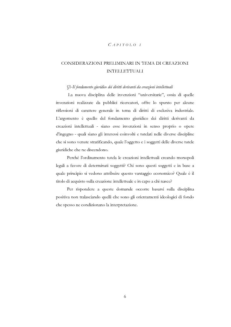 Anteprima della tesi: La nuova disciplina delle invenzioni dei pubblici ricercatori, Pagina 1