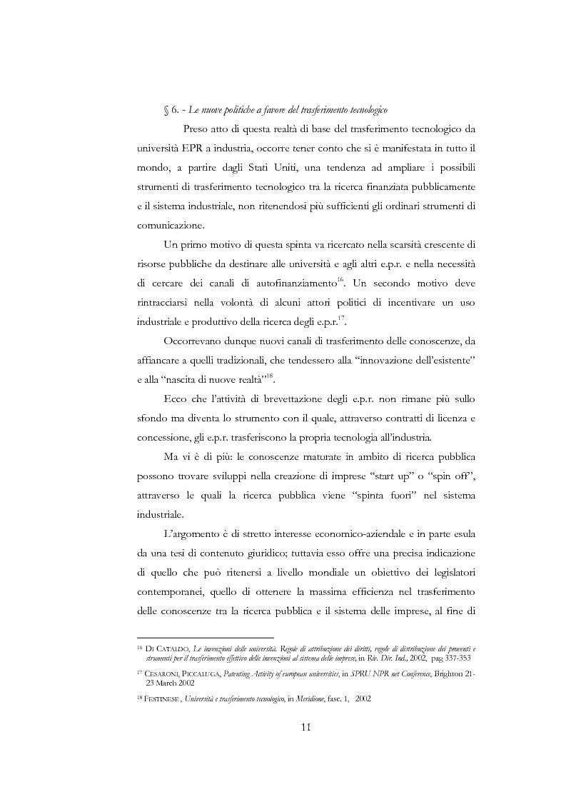 Anteprima della tesi: La nuova disciplina delle invenzioni dei pubblici ricercatori, Pagina 6
