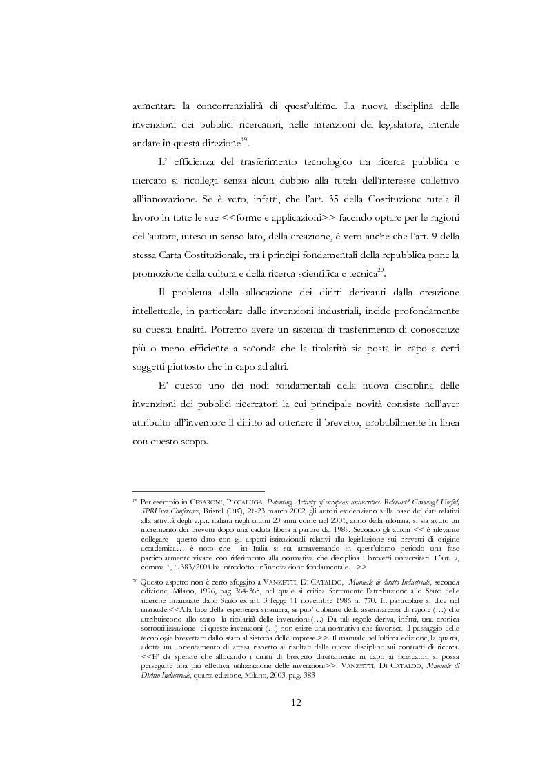Anteprima della tesi: La nuova disciplina delle invenzioni dei pubblici ricercatori, Pagina 7