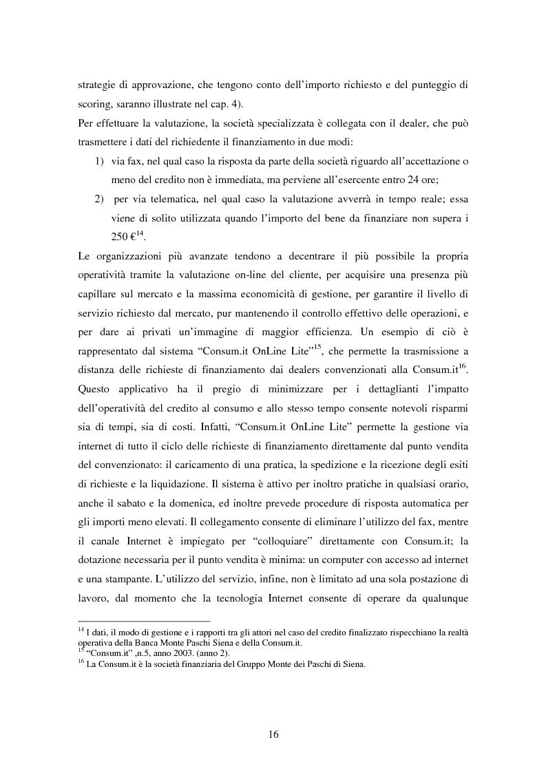 Anteprima della tesi: Il settore del credito al consumo: l'esperienza del Gruppo MPS, Pagina 14
