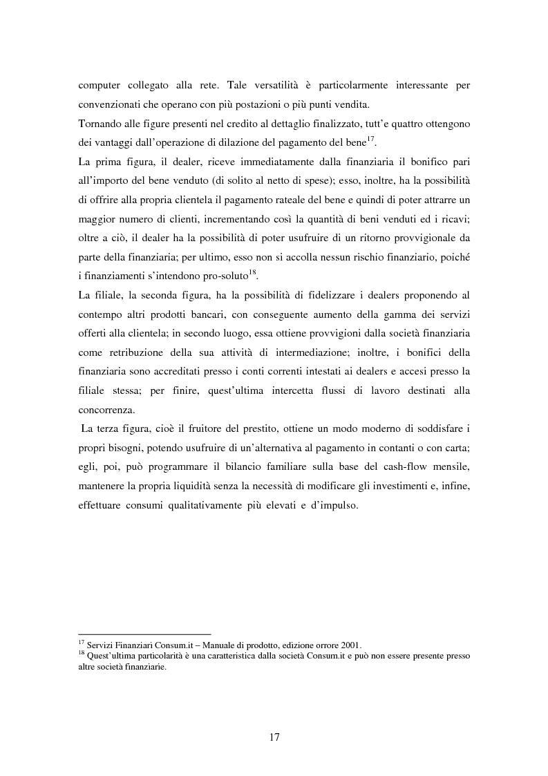 Anteprima della tesi: Il settore del credito al consumo: l'esperienza del Gruppo MPS, Pagina 15