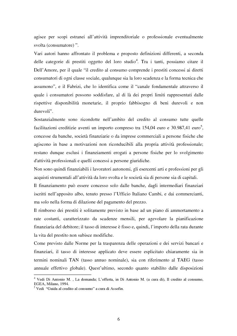 Anteprima della tesi: Il settore del credito al consumo: l'esperienza del Gruppo MPS, Pagina 4