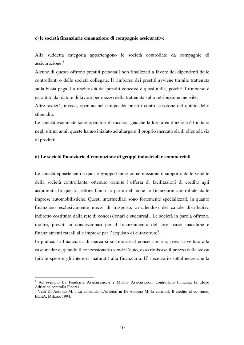Anteprima della tesi: Il settore del credito al consumo: l'esperienza del Gruppo MPS, Pagina 8