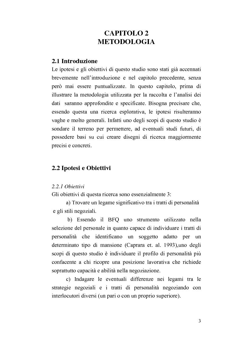 Anteprima della tesi: Personalità e strategie negoziali: una ricerca esplorativa, Pagina 3