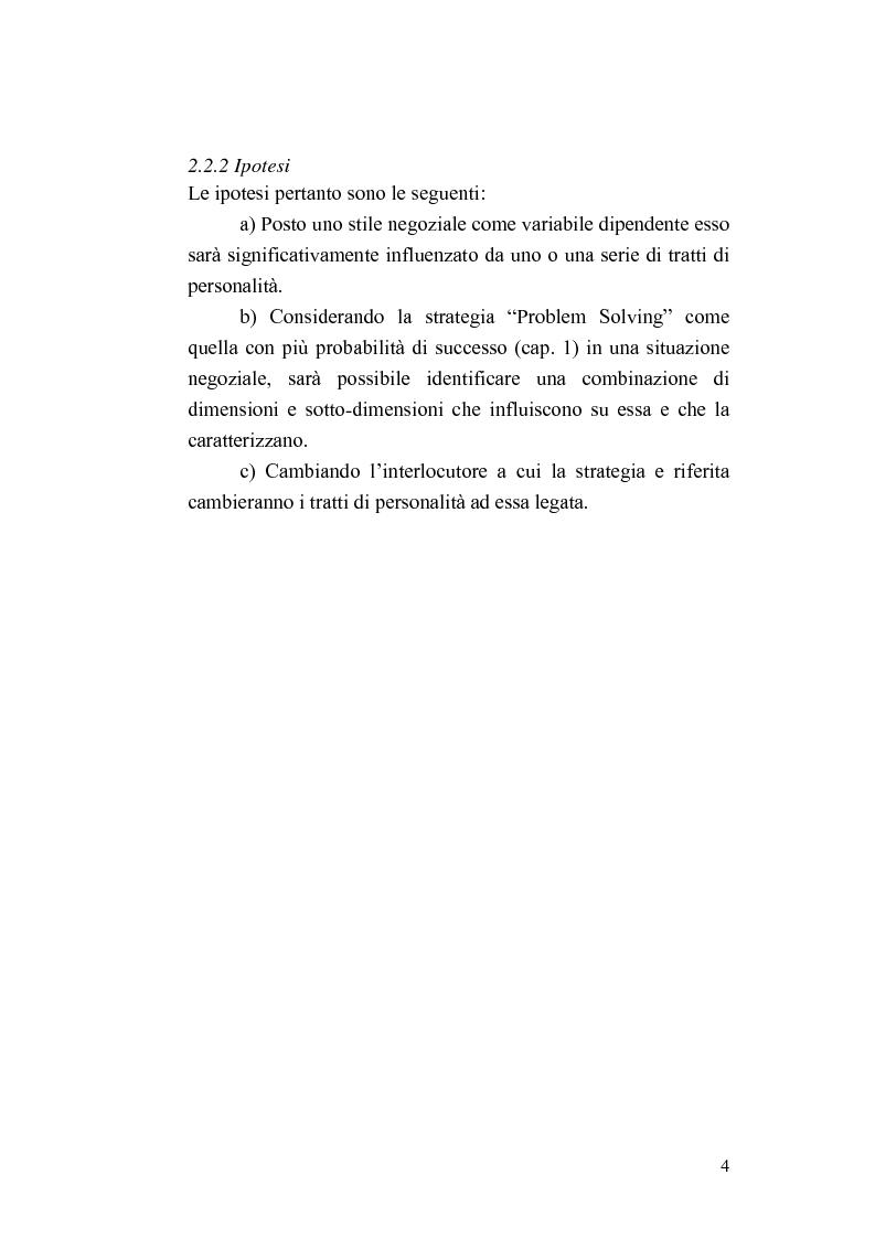 Anteprima della tesi: Personalità e strategie negoziali: una ricerca esplorativa, Pagina 4
