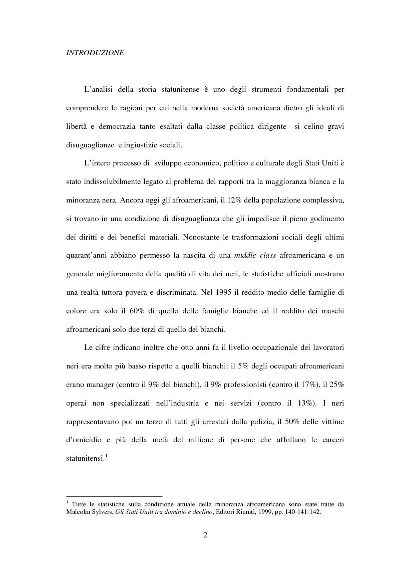 Anteprima della tesi: Marcus Garvey e l'Universal Negro Improvement Association nel periodo statunitense (1919-1927), Pagina 1