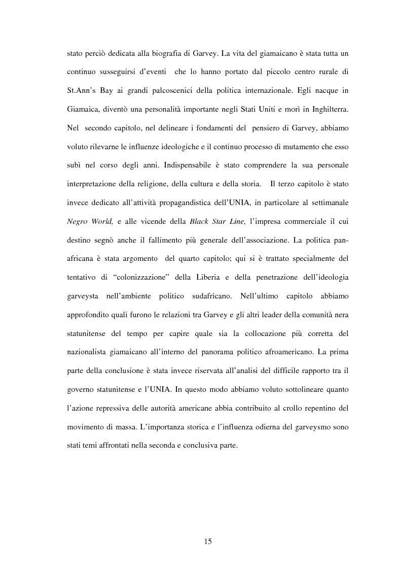 Anteprima della tesi: Marcus Garvey e l'Universal Negro Improvement Association nel periodo statunitense (1919-1927), Pagina 14