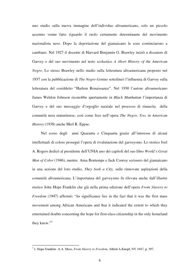 Anteprima della tesi: Marcus Garvey e l'Universal Negro Improvement Association nel periodo statunitense (1919-1927), Pagina 5