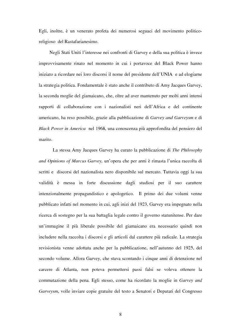 Anteprima della tesi: Marcus Garvey e l'Universal Negro Improvement Association nel periodo statunitense (1919-1927), Pagina 7
