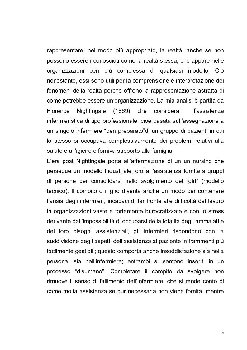Anteprima della tesi: L'evoluzione dei modelli organizzativi per l'assistenza infermieristica, Pagina 3