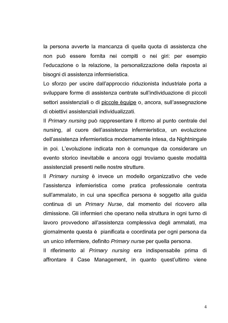 Anteprima della tesi: L'evoluzione dei modelli organizzativi per l'assistenza infermieristica, Pagina 4
