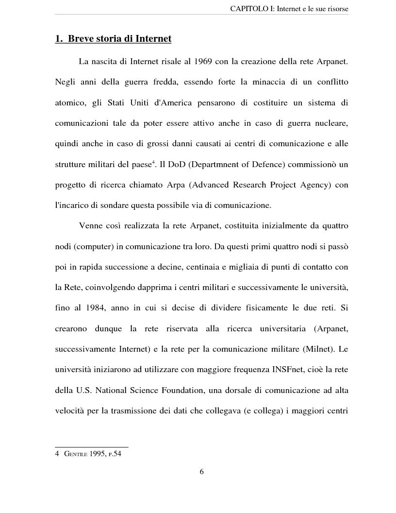 Anteprima della tesi: Le risorse di Internet al servizio delle imprese, Pagina 3