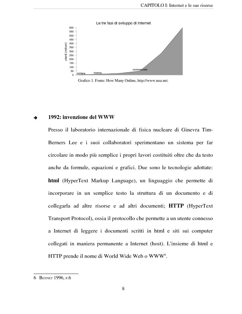 Anteprima della tesi: Le risorse di Internet al servizio delle imprese, Pagina 5