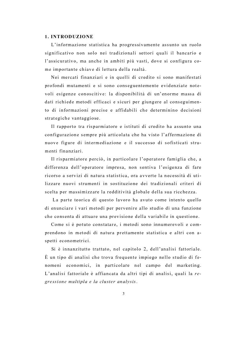 Anteprima della tesi: Definizione e stima del potenziale territoriale del mercato bancario, Pagina 1