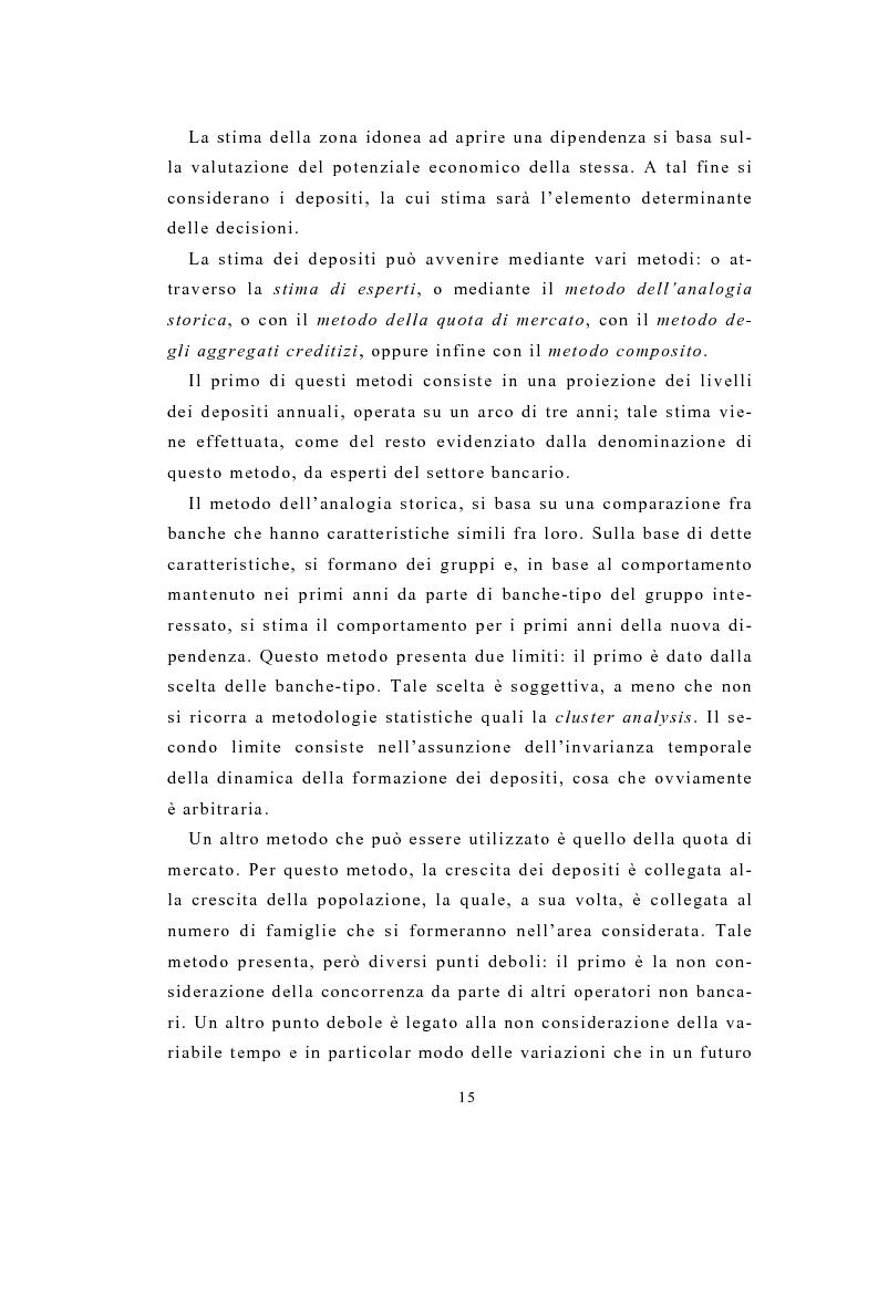 Anteprima della tesi: Definizione e stima del potenziale territoriale del mercato bancario, Pagina 13