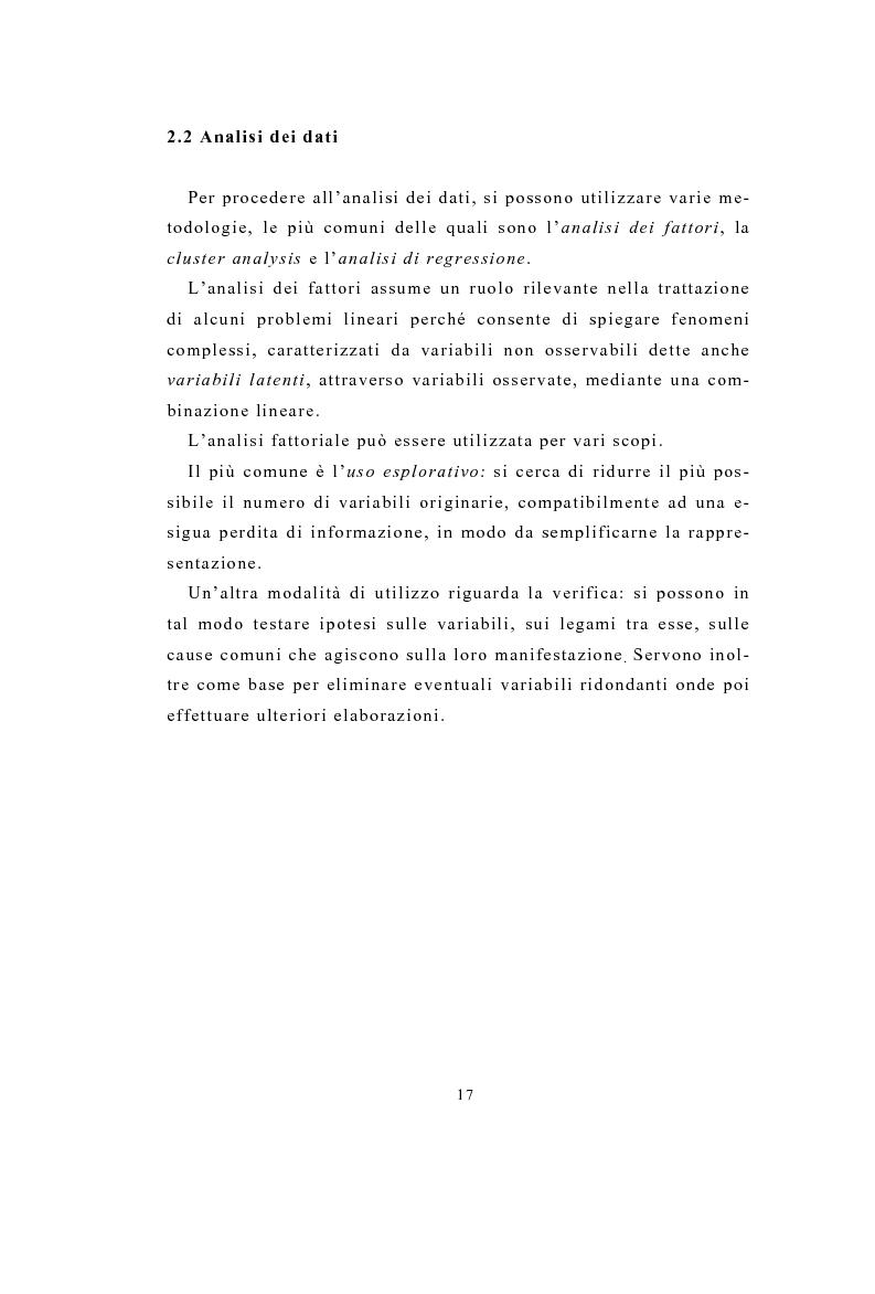 Anteprima della tesi: Definizione e stima del potenziale territoriale del mercato bancario, Pagina 15