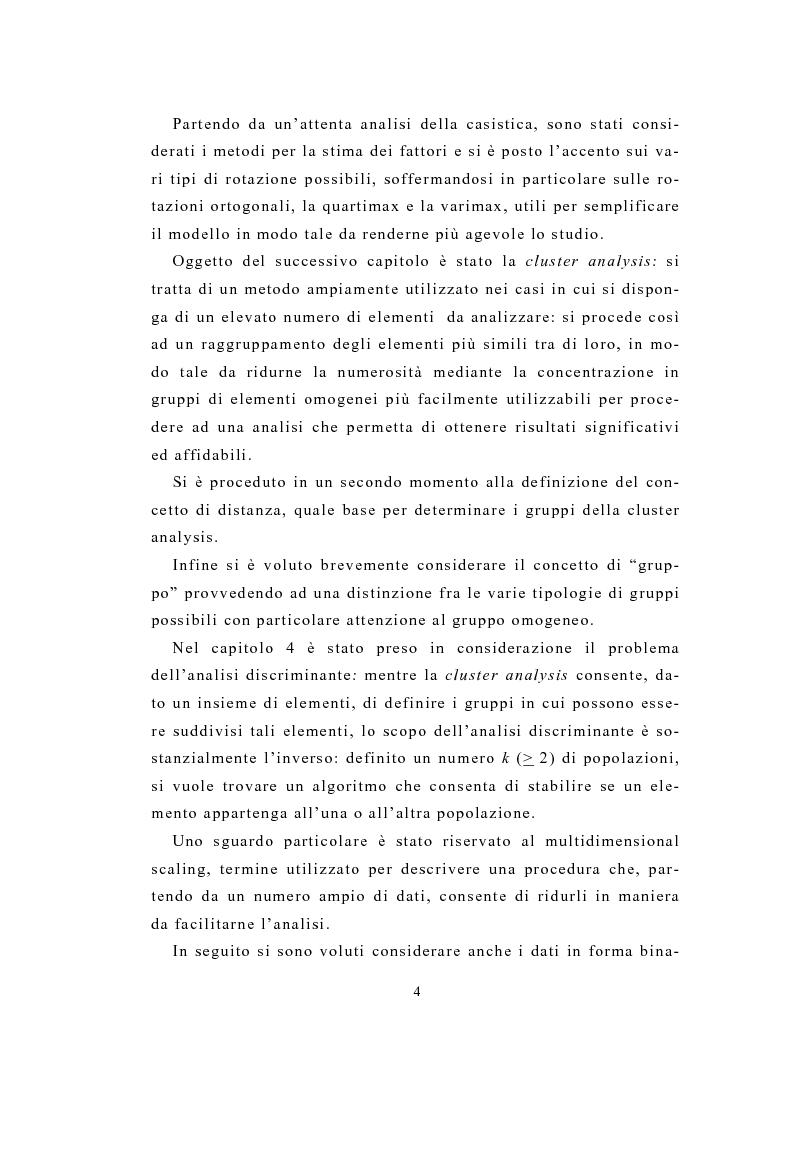 Anteprima della tesi: Definizione e stima del potenziale territoriale del mercato bancario, Pagina 2