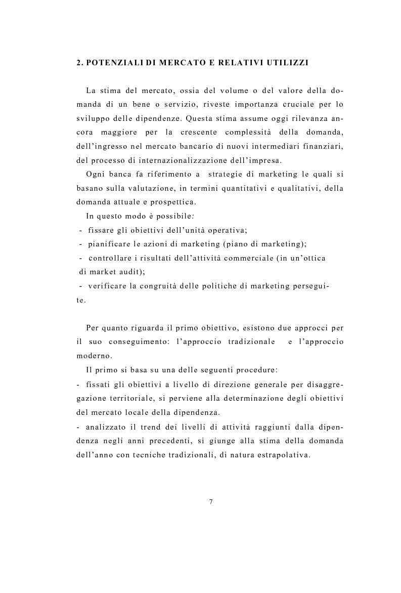 Anteprima della tesi: Definizione e stima del potenziale territoriale del mercato bancario, Pagina 5