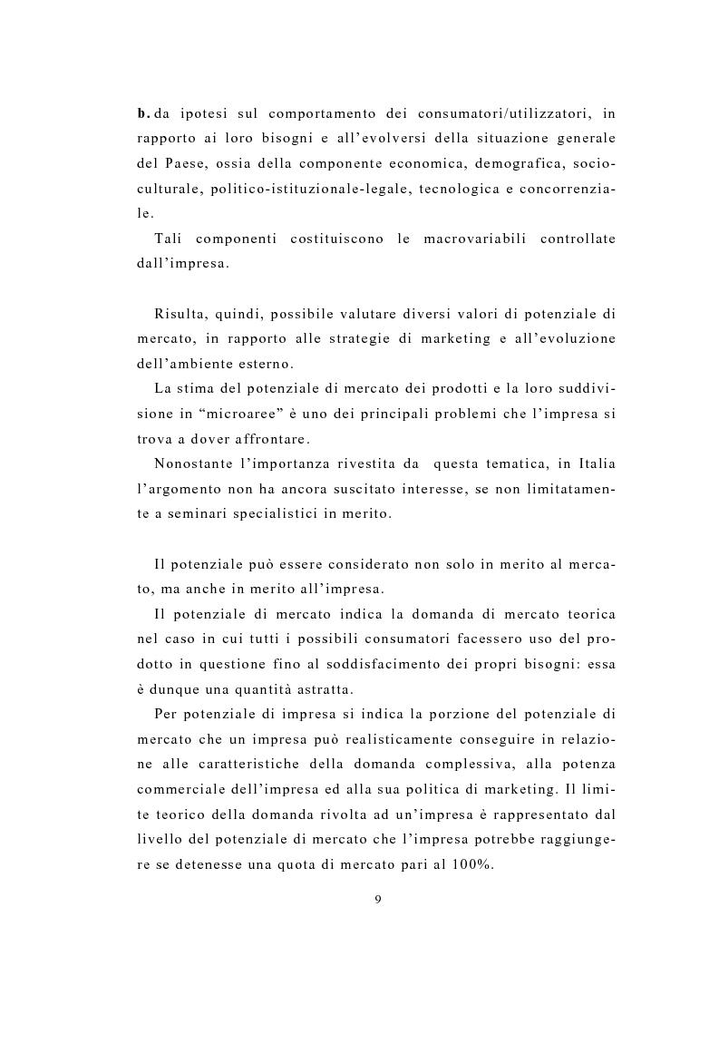 Anteprima della tesi: Definizione e stima del potenziale territoriale del mercato bancario, Pagina 7