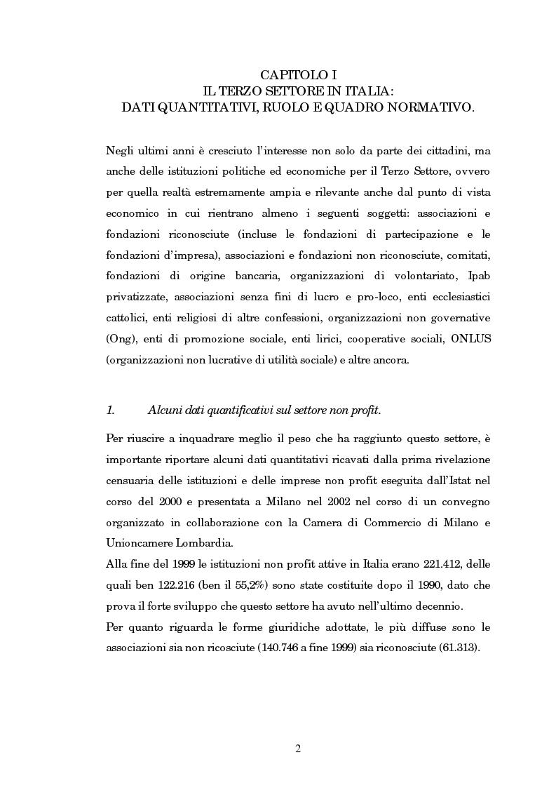 Anteprima della tesi: Quando il terzo settore non è solo Onlus: gli enti ecclesiastici, Pagina 2