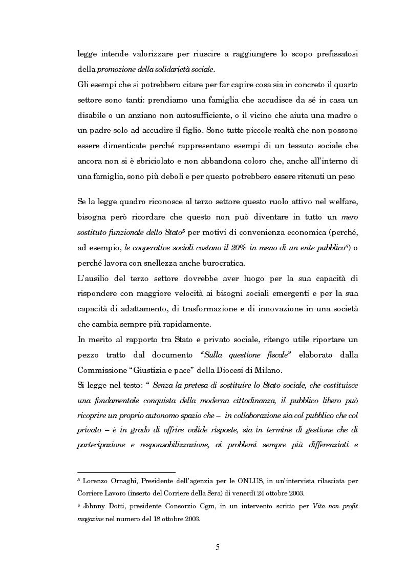 Anteprima della tesi: Quando il terzo settore non è solo Onlus: gli enti ecclesiastici, Pagina 5