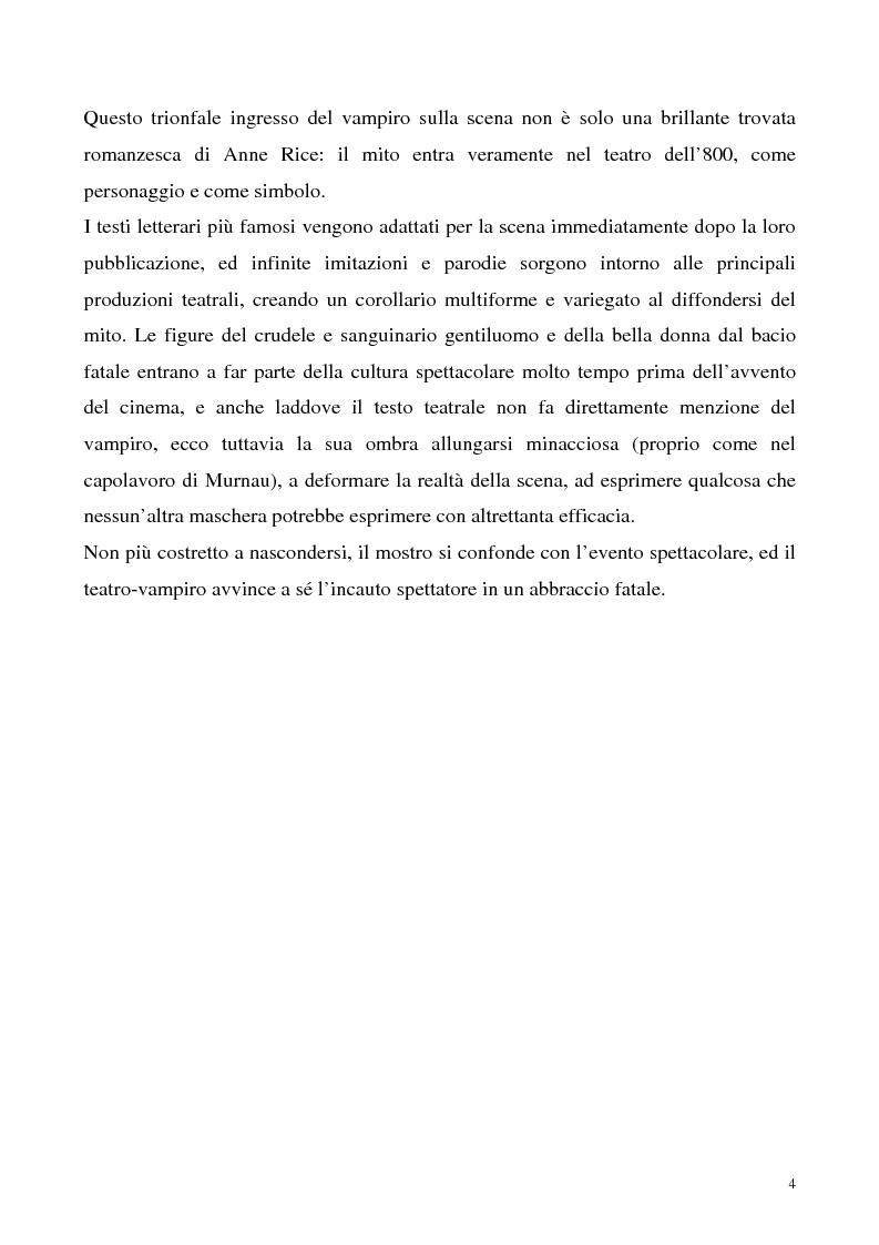 Anteprima della tesi: La figura del vampiro nel teatro tra '800 e '900, Pagina 4
