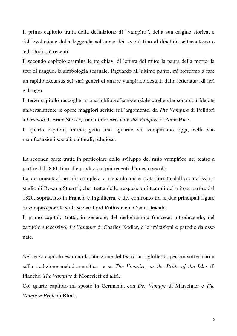 Anteprima della tesi: La figura del vampiro nel teatro tra '800 e '900, Pagina 6