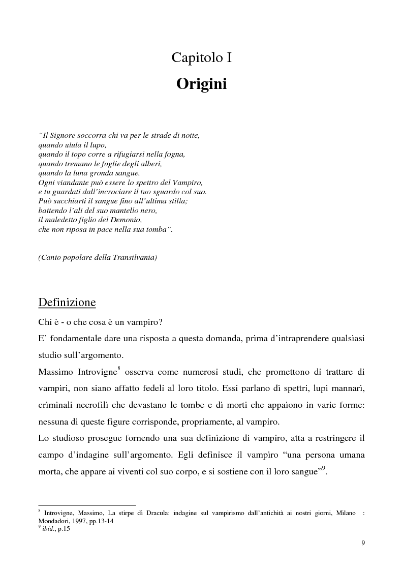 Anteprima della tesi: La figura del vampiro nel teatro tra '800 e '900, Pagina 9