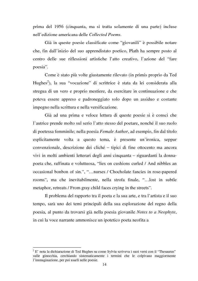Anteprima della tesi: Sylvia Plath - Il mestiere di poetessa. Viaggio nel regno della poesia, Pagina 11