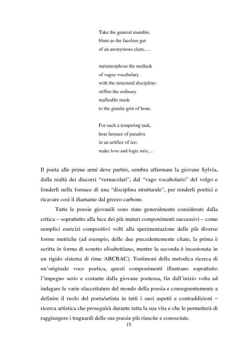 Anteprima della tesi: Sylvia Plath - Il mestiere di poetessa. Viaggio nel regno della poesia, Pagina 12