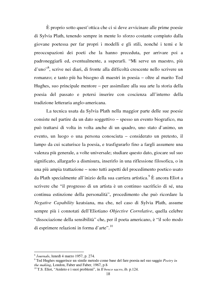 Anteprima della tesi: Sylvia Plath - Il mestiere di poetessa. Viaggio nel regno della poesia, Pagina 15
