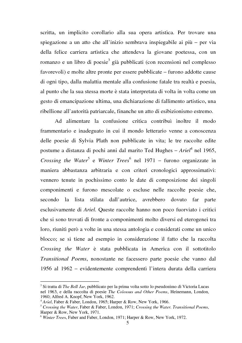 Anteprima della tesi: Sylvia Plath - Il mestiere di poetessa. Viaggio nel regno della poesia, Pagina 2