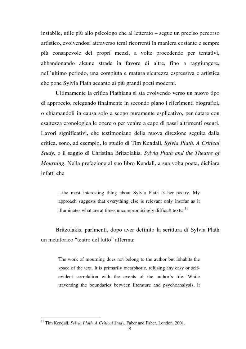 Anteprima della tesi: Sylvia Plath - Il mestiere di poetessa. Viaggio nel regno della poesia, Pagina 5