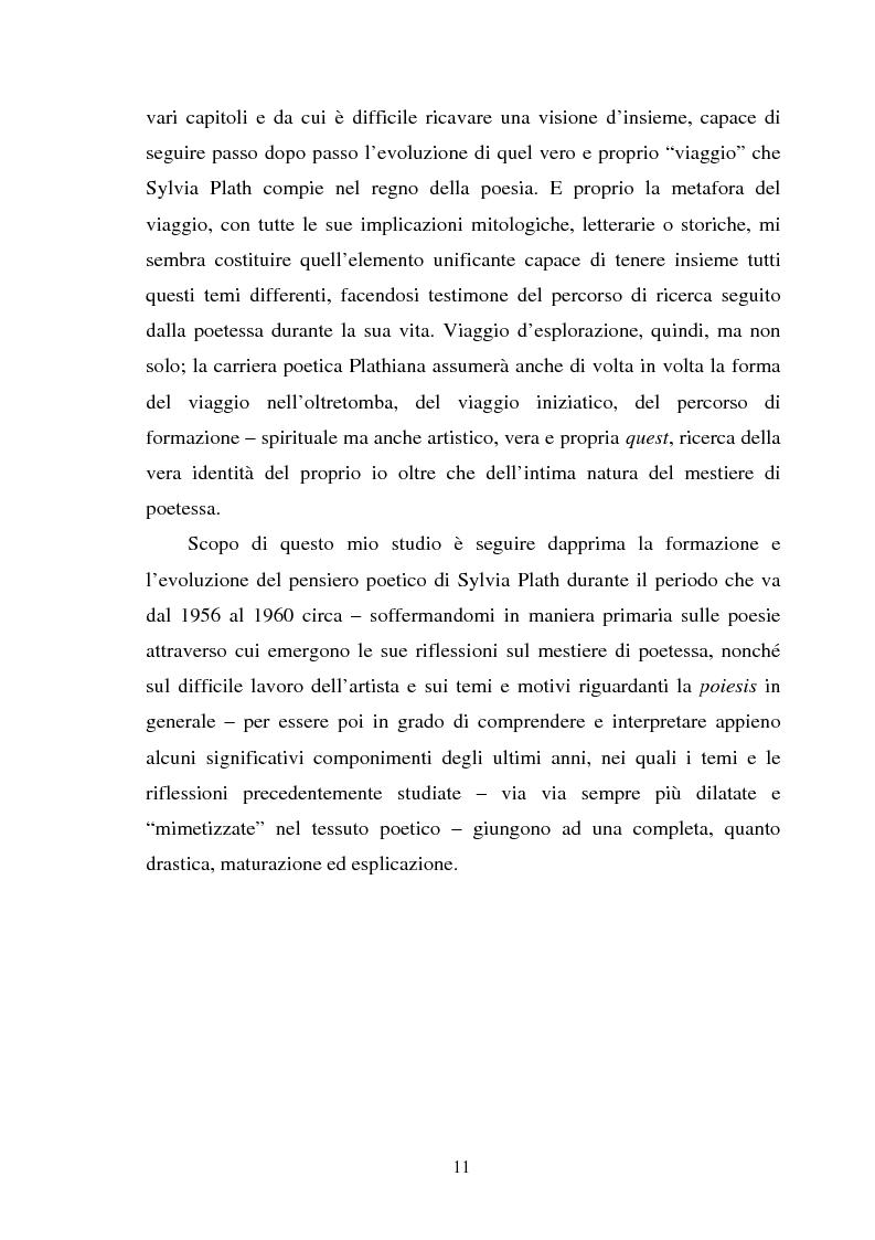 Anteprima della tesi: Sylvia Plath - Il mestiere di poetessa. Viaggio nel regno della poesia, Pagina 8