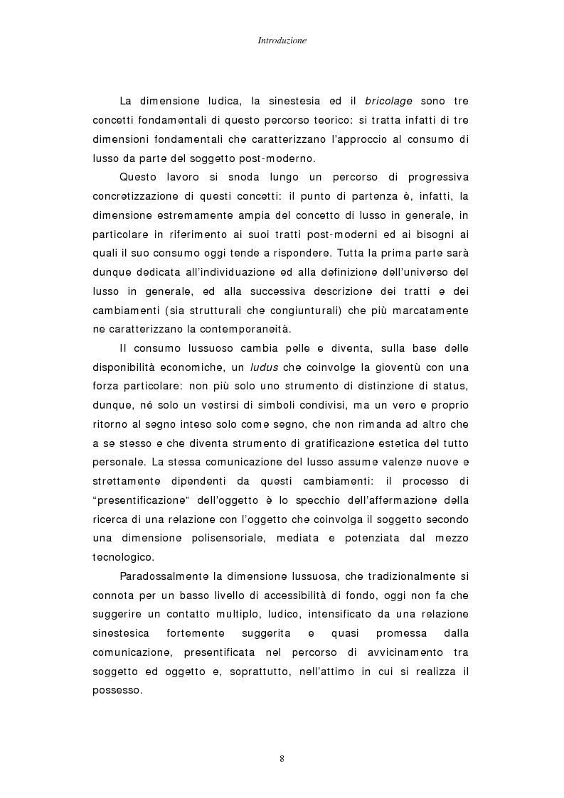 Anteprima della tesi: Gestire la sfida del lusso: il caso Chimento, Pagina 2