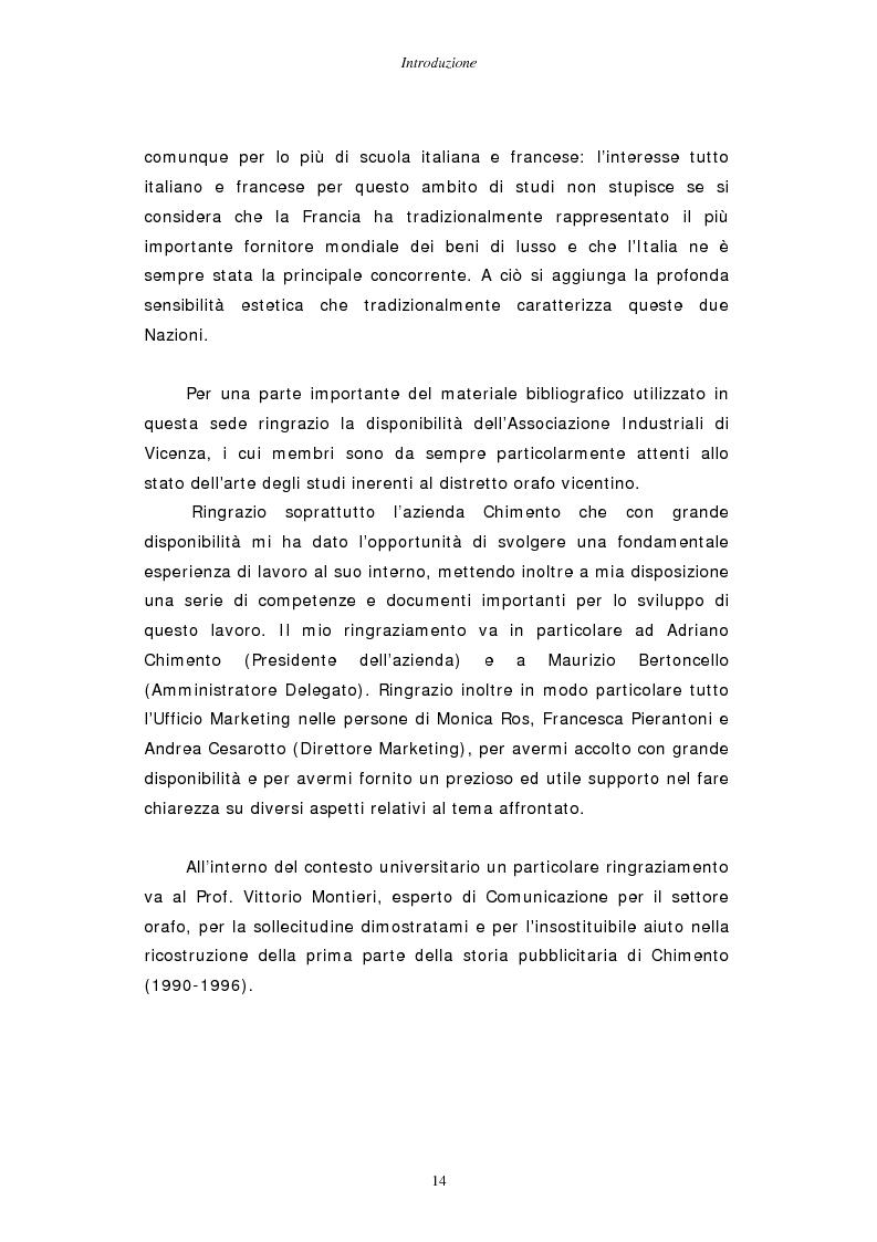 Anteprima della tesi: Gestire la sfida del lusso: il caso Chimento, Pagina 8
