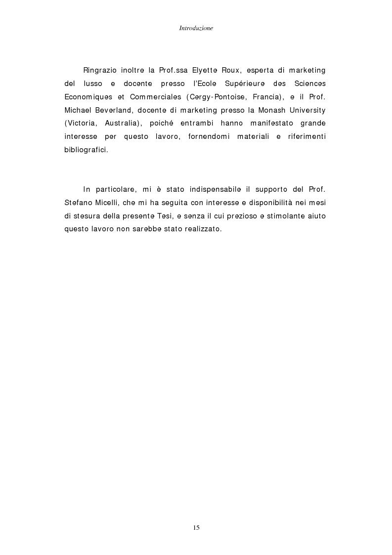 Anteprima della tesi: Gestire la sfida del lusso: il caso Chimento, Pagina 9