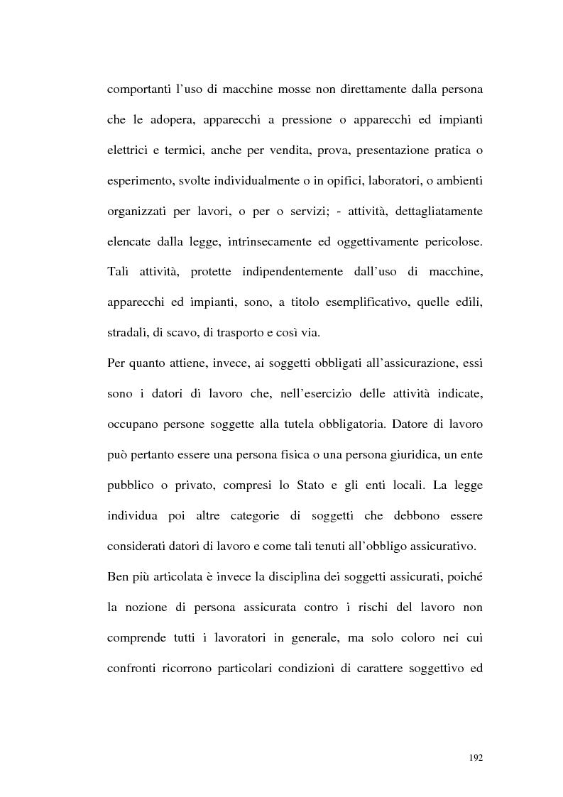 Anteprima della tesi: La tutela contro gli infortuni sul lavoro e le malattie professionali, Pagina 5