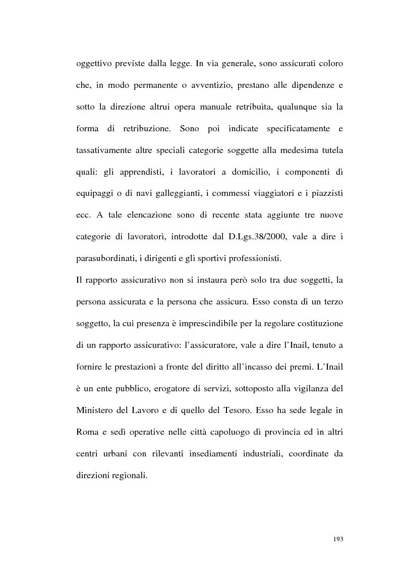 Anteprima della tesi: La tutela contro gli infortuni sul lavoro e le malattie professionali, Pagina 6