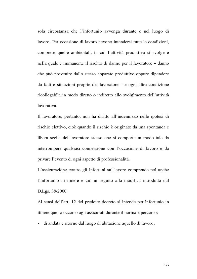 Anteprima della tesi: La tutela contro gli infortuni sul lavoro e le malattie professionali, Pagina 8