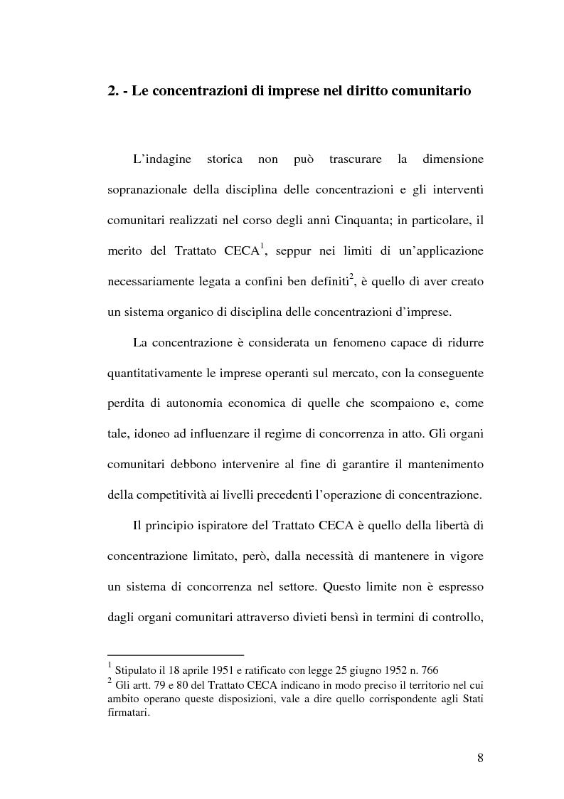 Anteprima della tesi: Controllo e concentrazioni, Pagina 14