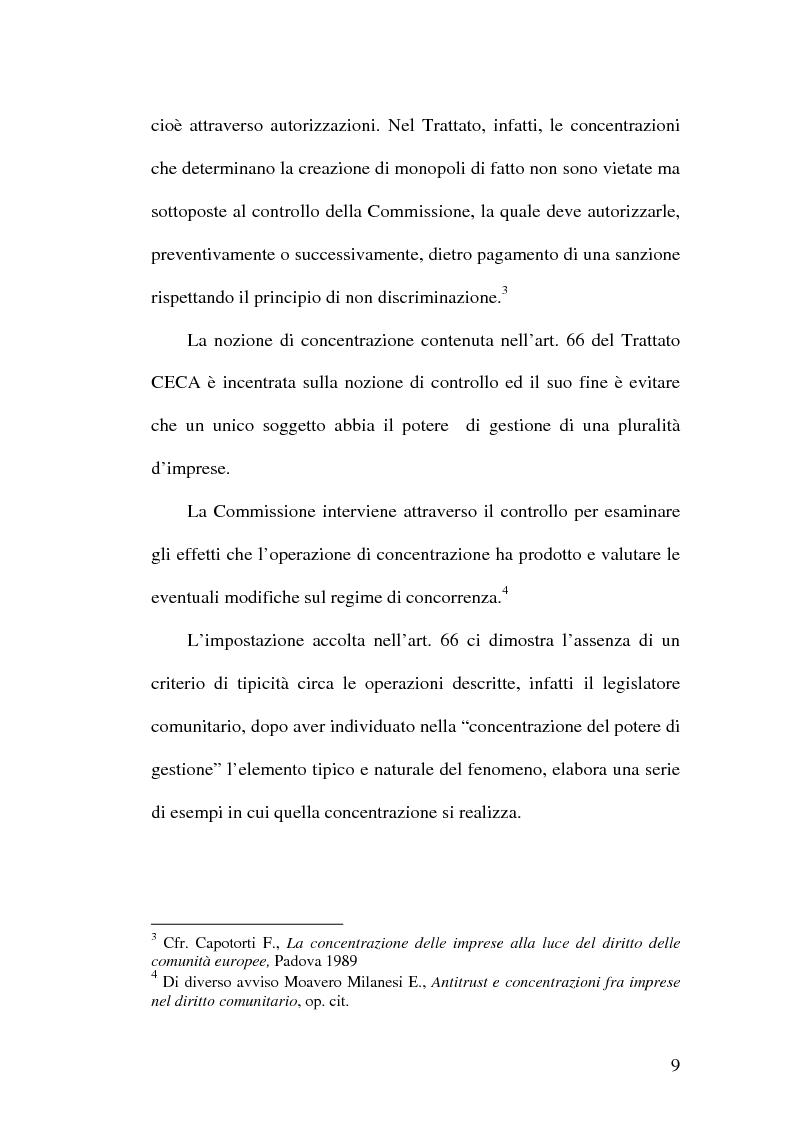 Anteprima della tesi: Controllo e concentrazioni, Pagina 15