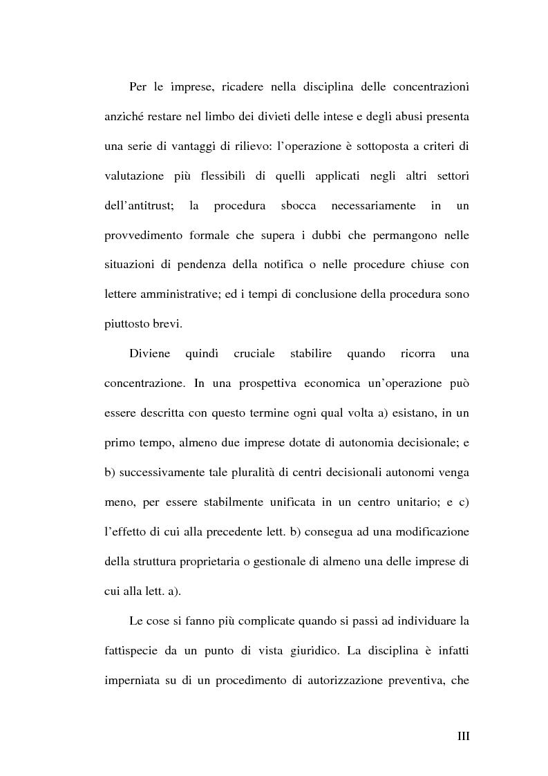 Anteprima della tesi: Controllo e concentrazioni, Pagina 3