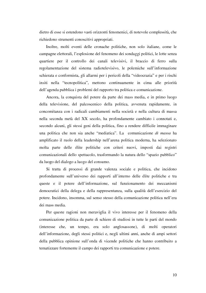 Anteprima della tesi: Comunicazione, marketing politico, elettori: le elezioni politiche del 13 Maggio 2001 in Italia, Pagina 5