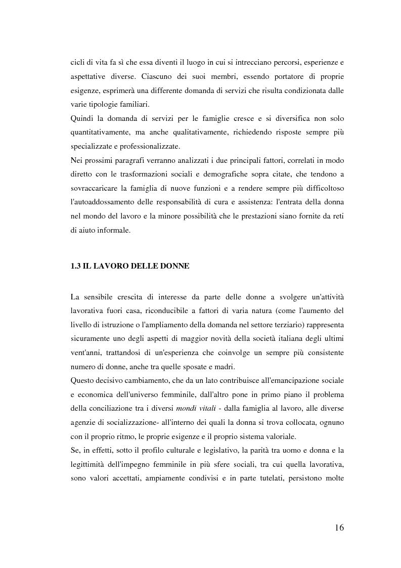 Anteprima della tesi: Donne extracomunitarie nel settore dell'assistenza domiciliare. Un progetto pilota per il loro inserimento socio-lavorativo, Pagina 12