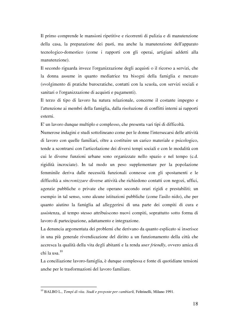 Anteprima della tesi: Donne extracomunitarie nel settore dell'assistenza domiciliare. Un progetto pilota per il loro inserimento socio-lavorativo, Pagina 14